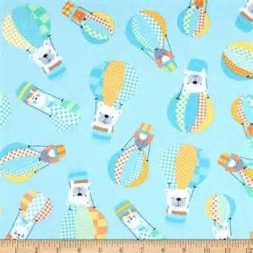 Up and away!  100/% cotton Patchwork Quilting Fabric FQ//Metre BREEZY BABY Up
