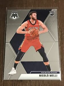 2019-20-Panini-Mosaic-Nicolo-Melli-RC-216-New-Orleans-Pelicans-Rookie