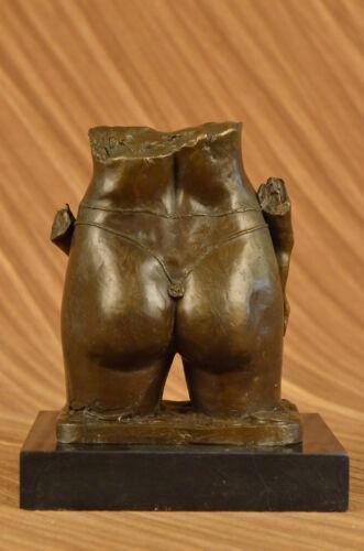 Pasquale Delor Torso of a Nude Woman Bronze Sculpture Abstract Art Deco Modern