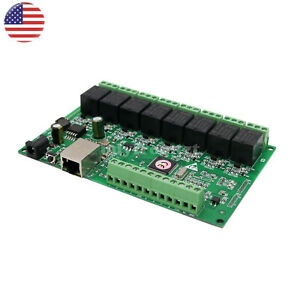 8 Ch Relay Network IP Relay Web Relay Dual Control Ethernet RJ45 interface UStop