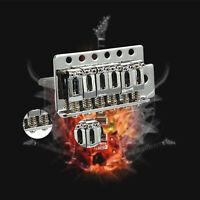 For Fender Strat 1 Set 6 Strings Chrome Guitar Tremolo Bridge With Bar Hot