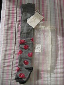 Inquiet Elsy Baby Gris & Rose Rose Vintage Collants 6 M Designer Bnwt-afficher Le Titre D'origine ChronoméTrage Ponctuel