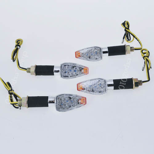 4X Motorcycle LED Turn Signal Indicator Light Honda CBR 600 F4i 1000 RR 900 12V