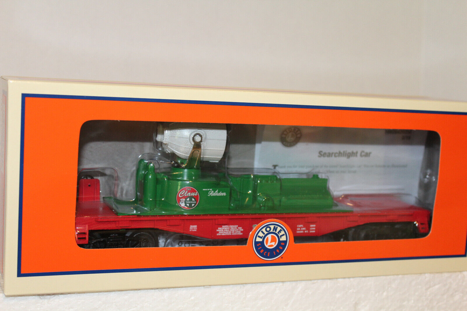 LIONEL  1928480 CHRISTMAS OPERATING  SANTA FINDER SEARCHLIGHT auto