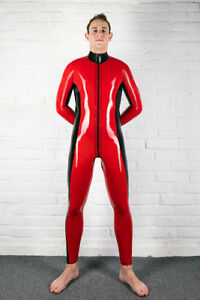 Men-039-s-Racer-Latex-Rubber-Catsuit-Easy-On-Chlorinated