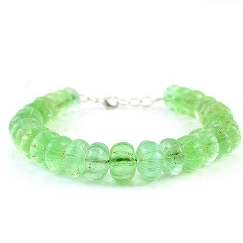 AMAZING TOP Qualité 305.00 cts vert naturel Fluorite sculpté forme Perles