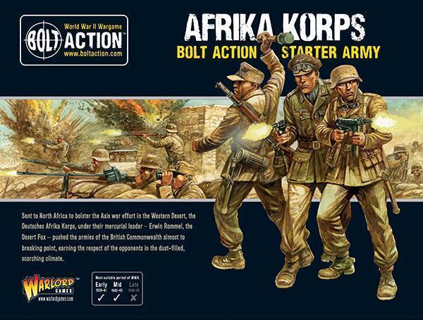Afrika Korps arranque Ejército Perno acción-Warlord Juegos-envío ahora