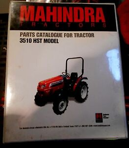 mahindra tractor parts catalog 3510 hst models manual ebay rh ebay com mahindra 3510 service manual mahindra 3510 service manual