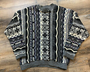 Herren-Protege-Collection-Pullover-COOGI-Style-Size-Large-Bill-Cosby-Vintage-EUC