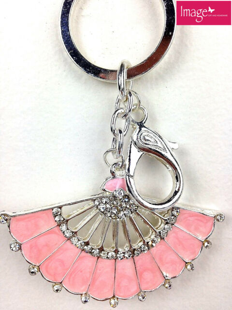 1pc Diamante Hand Fan Keyring Key Chain Christening Bomboniere Favor FP1/FW1