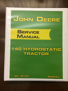 John-Deere-140-Hydrostatic-Tractor-Service-Manual-Book-Shop-Manual