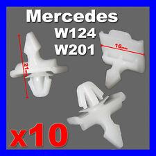 MERCEDES W124 E Class W201 190 SIDE DOOR MOULDING TRIM STRIP CLIPS EXTERIOR