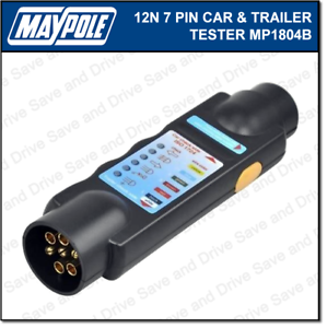 Details about Maypole Towbar & Trailer Wiring Tester Towing Electrics on