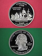 Silver 2000-S Virginia Proof Ultra Deep Cameo State Quarter Flat Rate Shipping