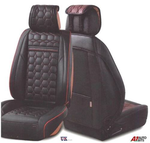 Deluxe Black PU Leather Front Seat Covers Padded For Suzuki Swift Vitara Sx4