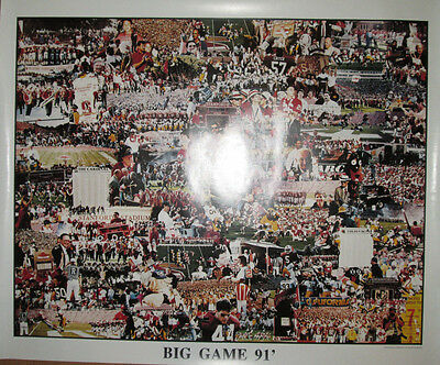"""24x30 Ex! Allen Hughes 1991 Cal Bears Vs Stanford """"big Game"""" Collage Poster"""