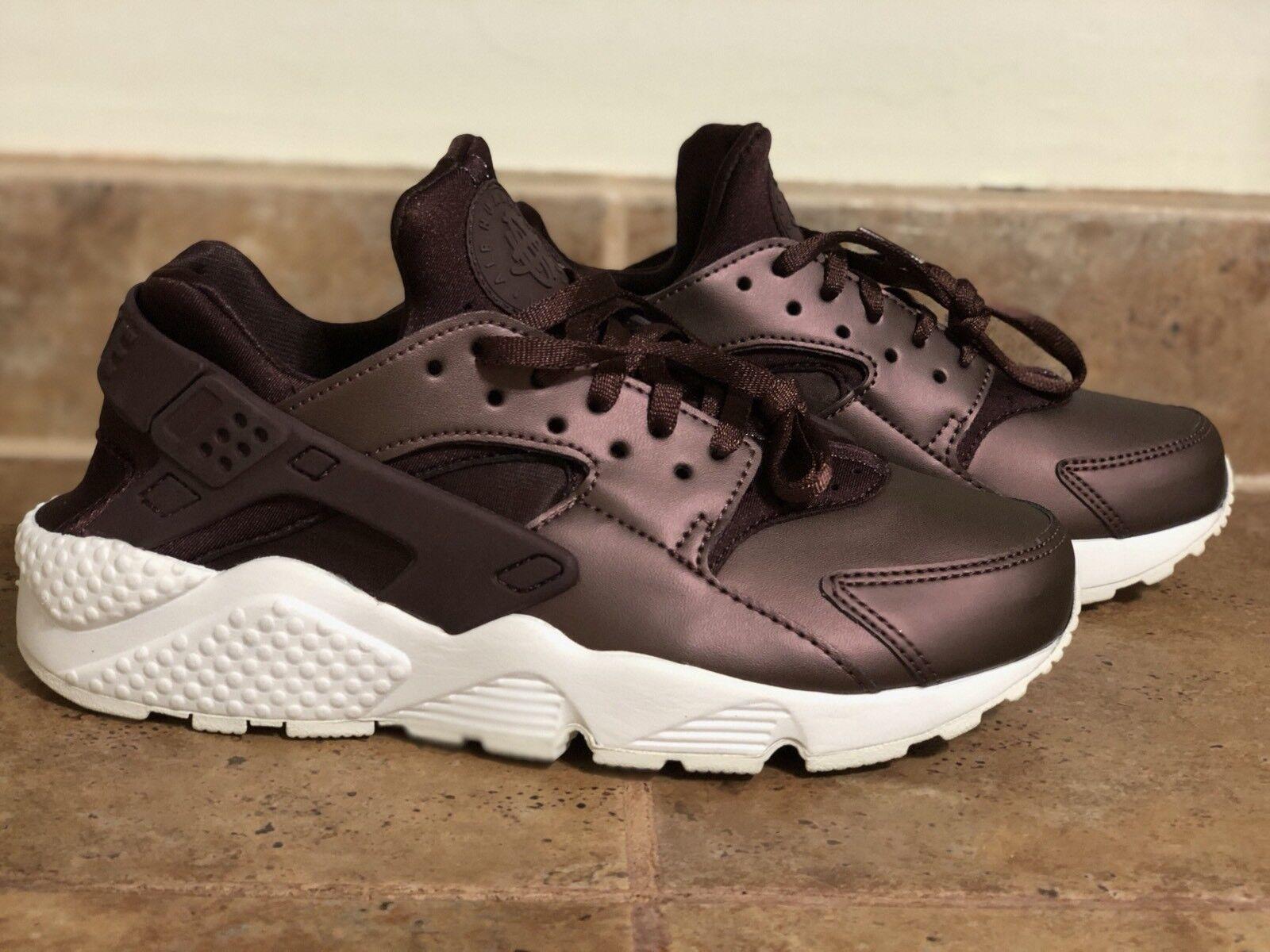 Nike WMNS Air Huarache Premium TXT SZ 6.5 AA0523-202 Metallic Mahogany Women New