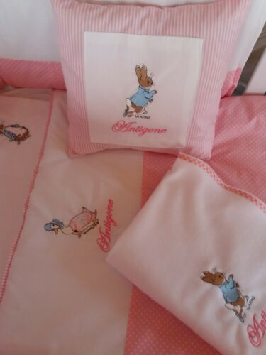 nappy stacker,cushion,Fleece Blanket Peter Rabbit Nursery Package Cot Bed set