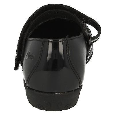 7ef63cf9d3d ... Clarks ' Orra Mimi' niña Negro Elegante Zapatos De Piel Para Colegio g  Fit ...