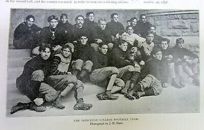 PRINCETON FOOTBALL TEAM OF 1891 ANTIQUE FOOTBALL PRINT