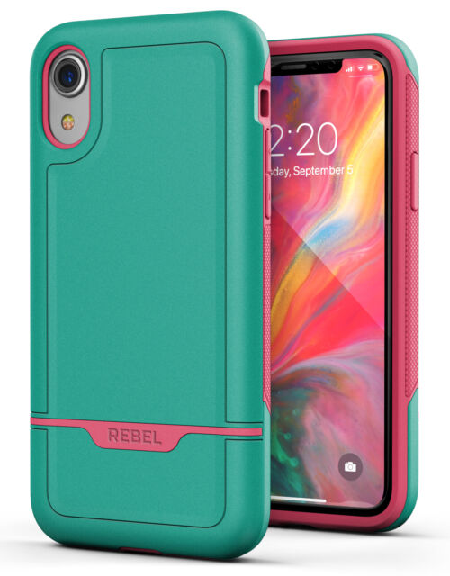 detailed pictures b3519 338ea iPhone XR Protective Case Military Grade Rugged Protection (rebel) Teal