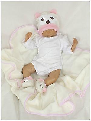 3Tlg Rosa SET Baby Babyausstattung Geschenkset Decke gr 56 62 Englandmode