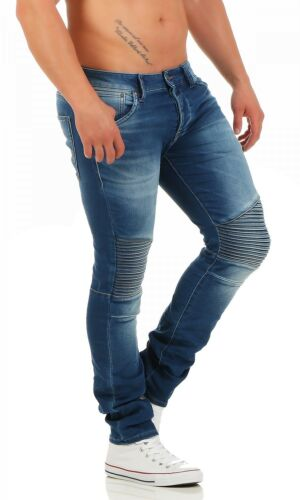 Jack /& Jones-Glenn Ryder Indigo Knit-Slim Fit-Jeans Uomo Pantaloni-Nuovo
