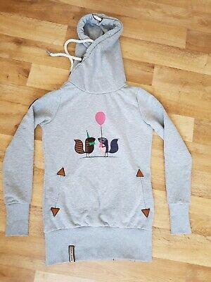NAKETANO Kapuzenpullove r Longshirt Long Frotzelinchen Hoodie Pullover Sweatshirt