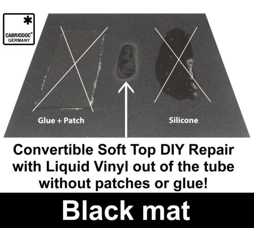 CABRIODOC Convertible Soft Top Repair BLACK Cloth Fabric Vinyl for all Brands