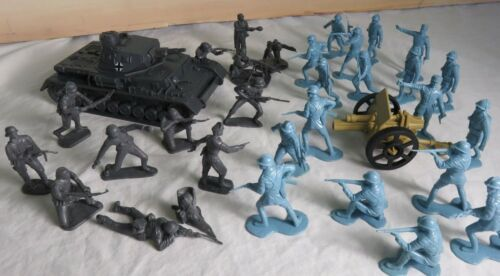 inf VS Marx French with artillery Classic Toy Soldiers WWII German tank