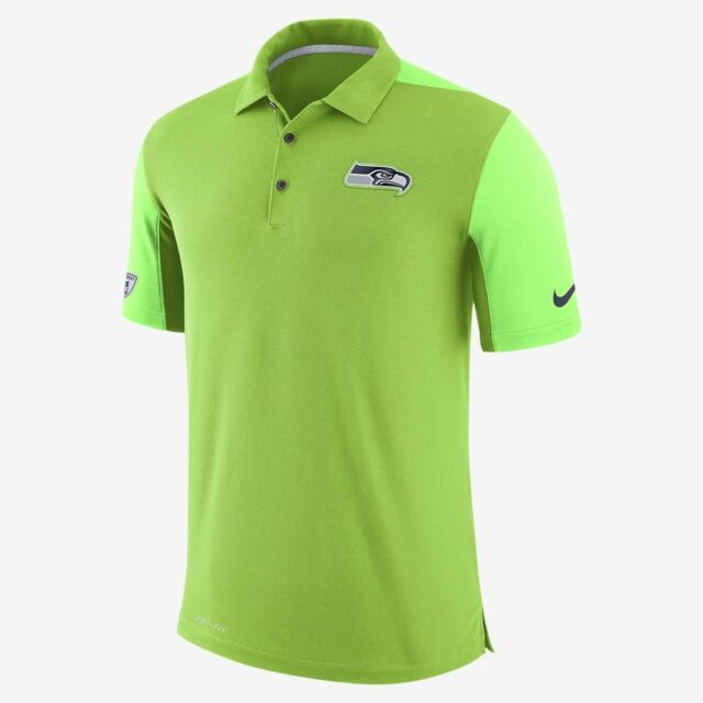 NEW   65 NIKE DRY TEAM ISSUE COLOR RUSH POLO SEATTLE SEAHAWKS SIZE L 836688 39b332370