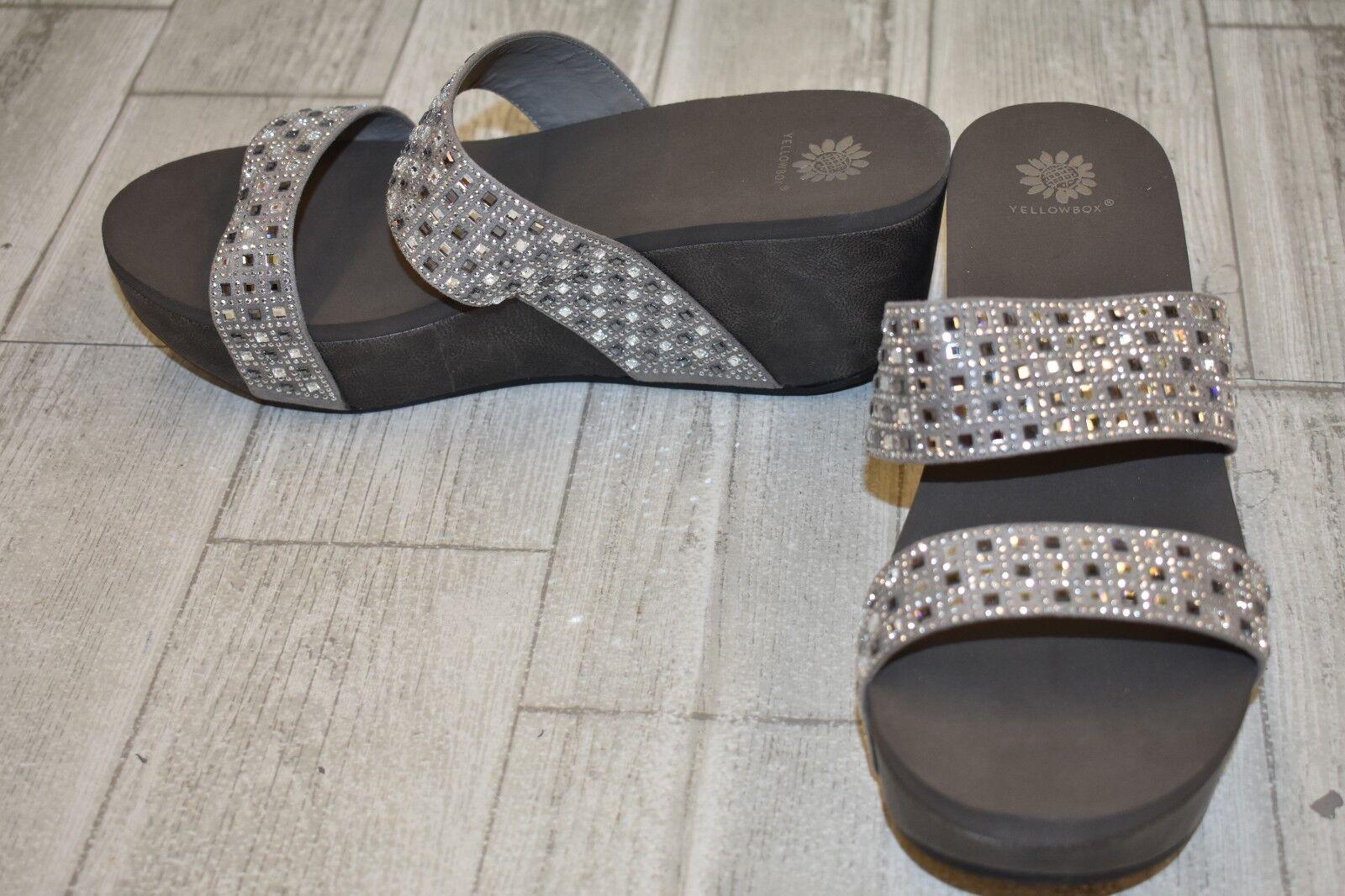 Yellow Box Valara Sandals, Women's Size 10, Grey