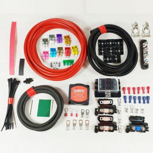 Split Charge Durite Relay Professional Kit 7 Metre 12V 140 Amp Voltage Sensitive