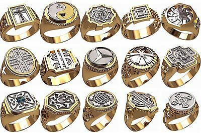 Set Of Men S Ring Wax Patterns M23 For Lost Wax Casting
