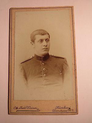 Schneidig München - Soldat In Uniform - Portrait / Cdv Profitieren Sie Klein