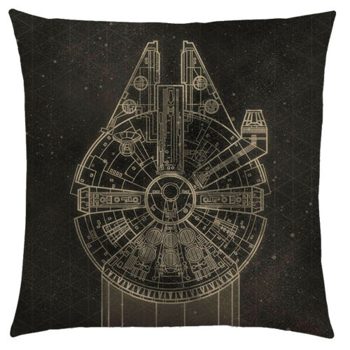 """STAR WARS CUSHION COVER Millennium Falcon AT-AT 17/"""" Home Decor X-Wing R2D2"""