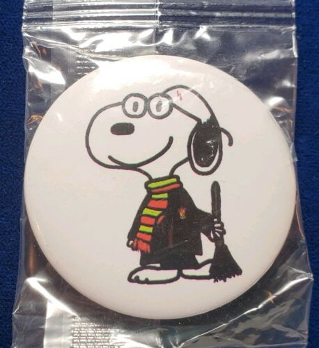 NEW SNOOPY Teacher Button Pin Collectible Broom Sweeping Professor Clean Up