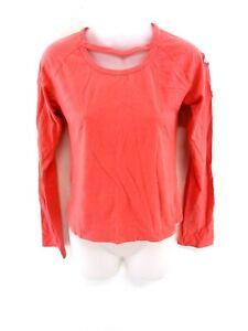 Diesel-Femme-a-Manches-Longues-T-Shirt-Top-M-Medium-coton-rose