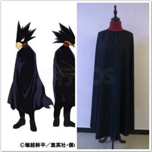 Hot! My Hero Academia Fumikage Tokoyami Cosplay costume cloak  REE