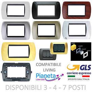 PLACCHE-COMPATIBILE-BTICINO-LIVING-INTERNATIONAL-moduli-posti-supporti-PLACCA