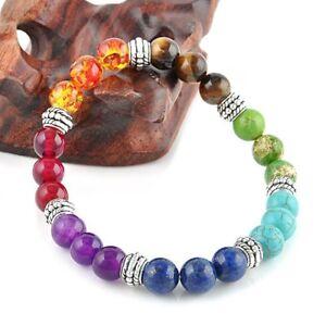 Charm-7-Chakra-Healing-Balance-Beaded-Bracelet-Lava-Yoga-Reiki-Prayer-Stone-Gift