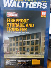 Walthers HO #933-3189 Fireproof Storage & Transfer Background Building -- Kit -