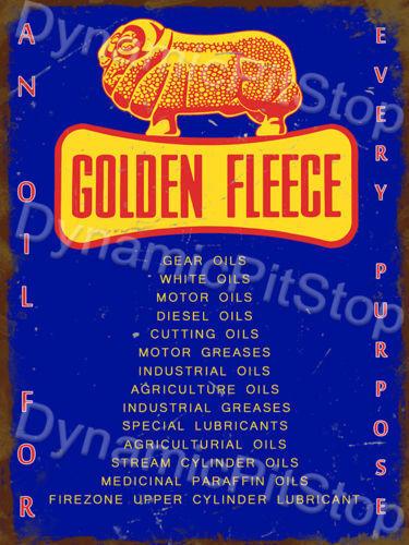 Retro Bar Garage 30x40cm Golden Fleece Oils Rustic Tin Sign or Decal Cave