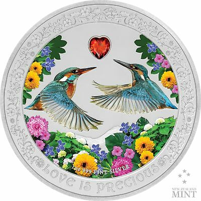 2017 Lao Love is Precious 1//2 Oz Silver Color Proof Coin Wedding Angel Heart