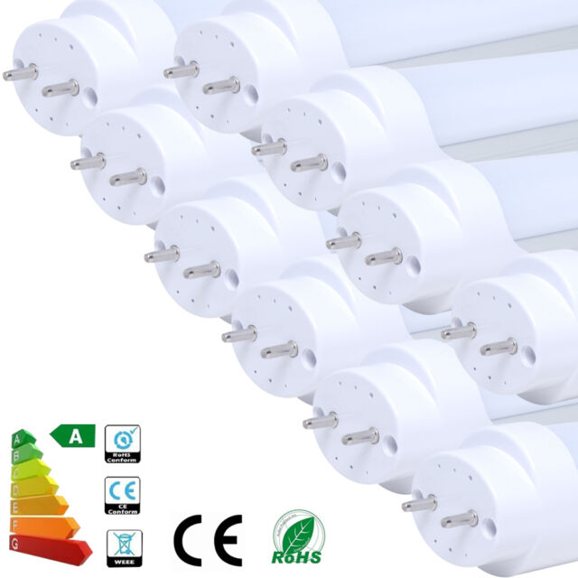 4/10x T8 9W LED Fluorescent Tube Light Lamp 2ft 60CM G13 Bright Cool Warm White