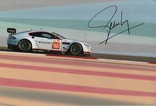Pedro Lamy Hand Signed Aston Martin 12x8 Photo Le Mans 4.