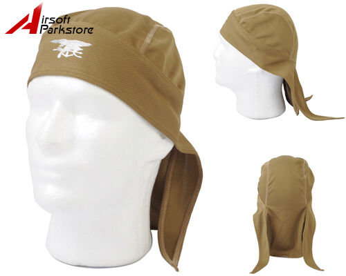 Airsoft Tactical Navy Seal Cool Pirate Style Hat Cap Headwear Headscarf Tan