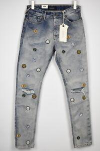 UVP 199 Scotch & Soda Dean Herren W29/L34 Locker Taper Aufnäher Zerrissene Jeans