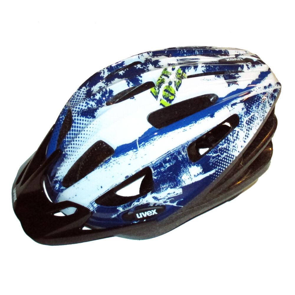 UVEX Fahrrad Helm Boss compact   Blau-Weiß 53-58 für KTM GIANT DAHON