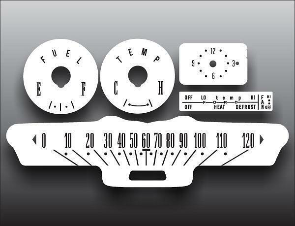1964 Ford Galaxie Dash Instrument Cluster White Face ...
